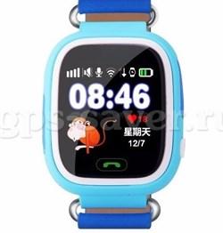 Часы Q90 с телефоном и GPS цвет голубой