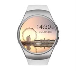 Часы шагомер пульсометр KW18 белые - фото 5000