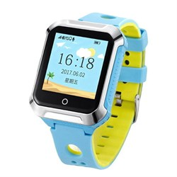 Smart Baby Watch W10 водонепроницаемые, голубые - фото 5111