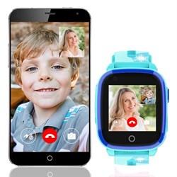Детские смарт часы с видео-звонком Q500, голубые - фото 5515