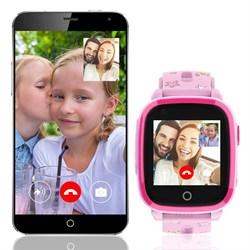Детские смарт часы с видео-вызовом Q500, розовые - фото 5516