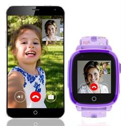 Детские смарт часы Q500 с видео-звонком, фиолетовые - фото 5518