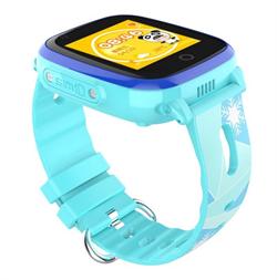 Часы с видеозвонком Q500, голубые - фото 5520